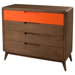 Commode 4 tiroirs LUCKY - Univers Chambre : Tousmesmeubles