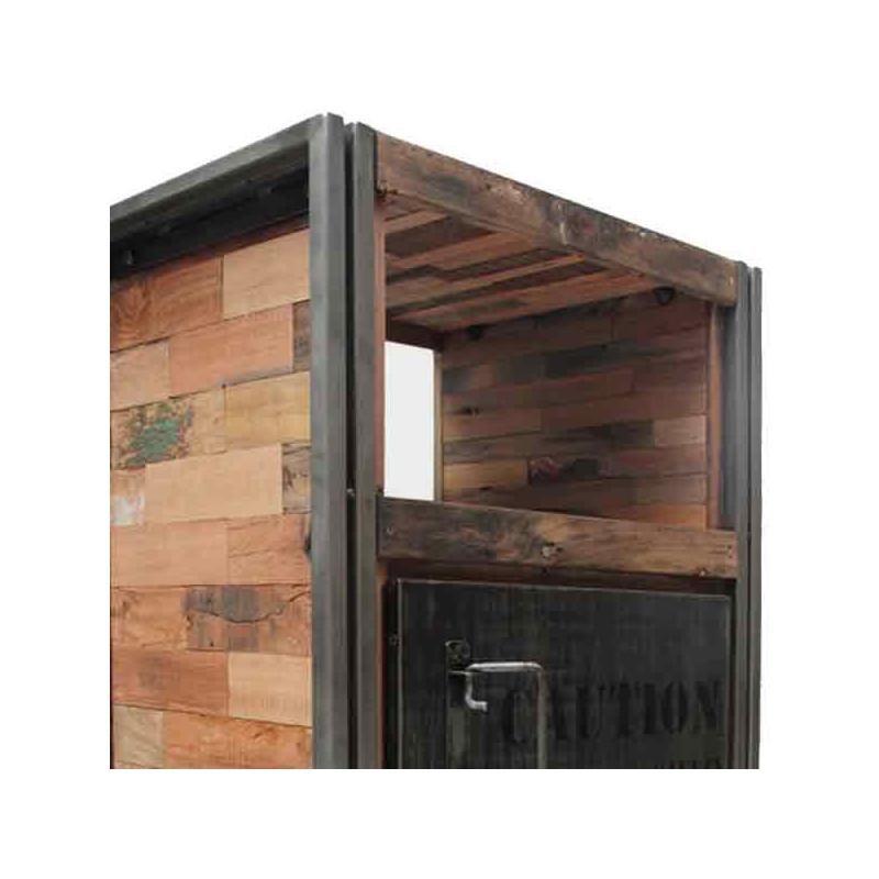 Confiturier en bois, 1 porte, 1 niche INDUSTRY - Univers de la salle à manger : Tousmesmeubles