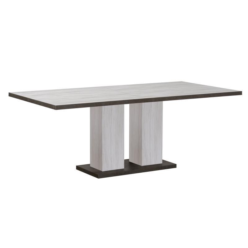 Table de repas à allonge Chêne gris/Ardoise HIMEJI