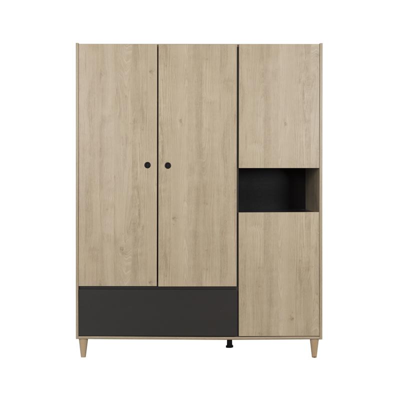 Armoire 4 portes 1 tiroir CHANA