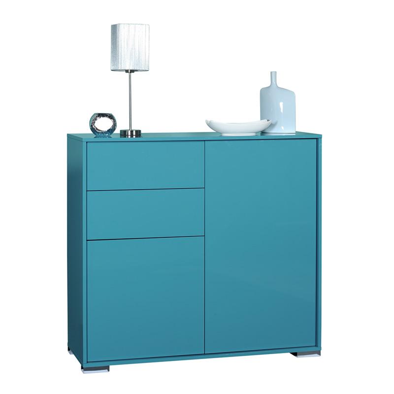 Buffet Turquoise 2 portes 2 tiroirs NAVO