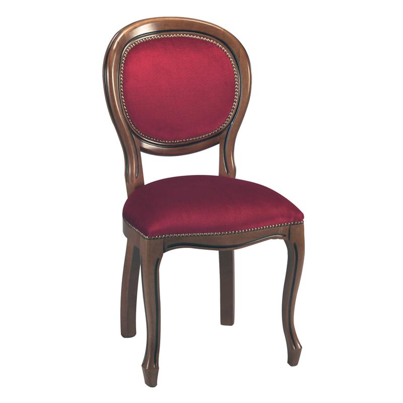 Duo de chaises médaillon Régence velours Bordeaux RIGO