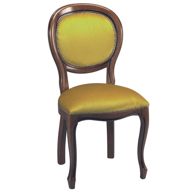 Duo de chaises médaillon Régence Velours Or RIGP