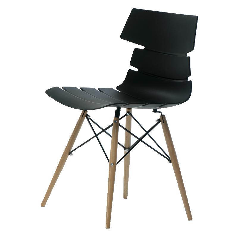Quatuor de chaises Noires SIRY