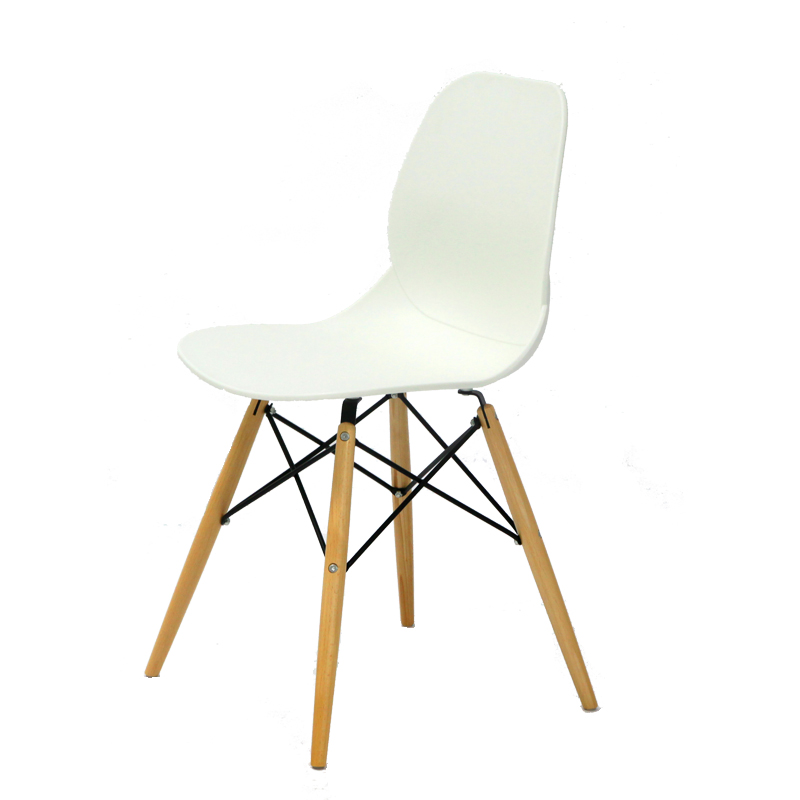 Quatuor de chaises Blanches BURI