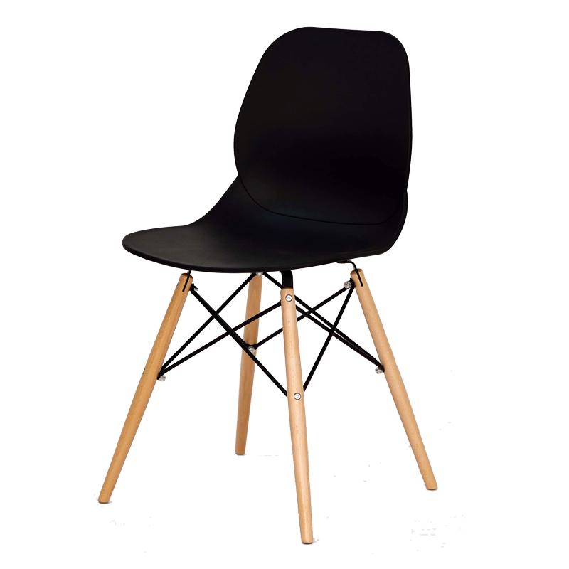 Quatuor de chaises Noires BURI