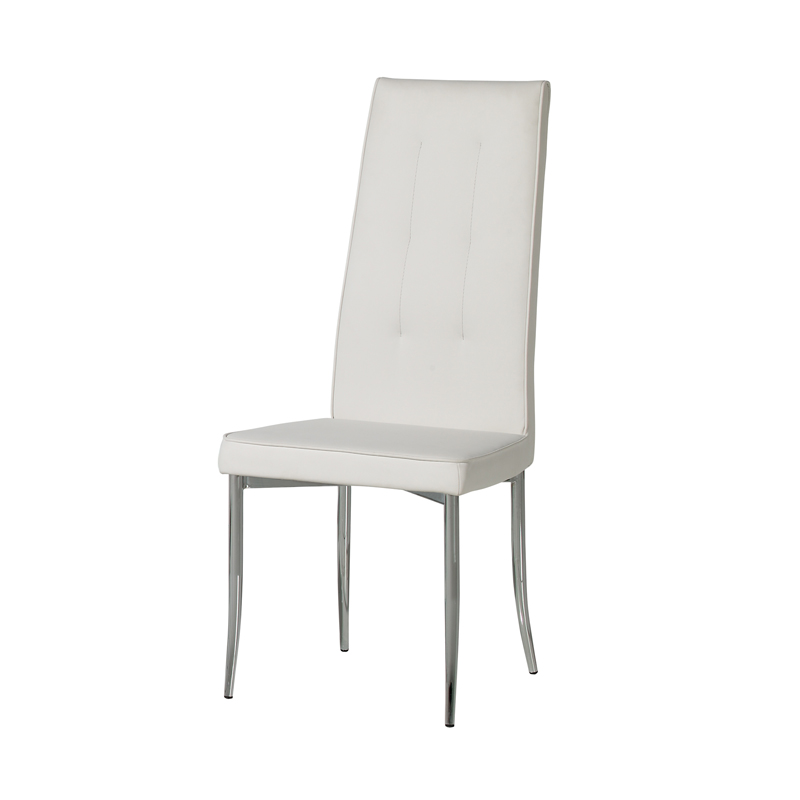 Duo de chaises en Simili cuir Blanches OLGA