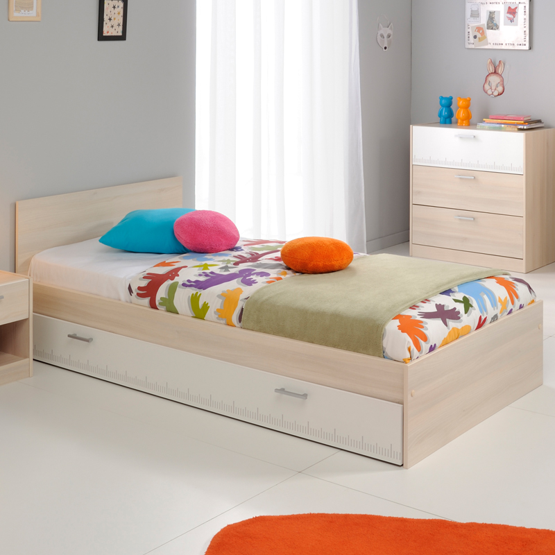 chambre enfant compl te 90 190 acacia clair price. Black Bedroom Furniture Sets. Home Design Ideas