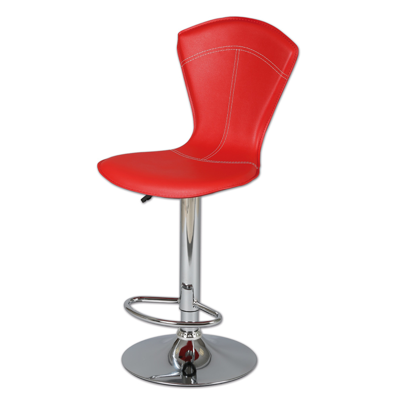 Duo de tabourets de bar Rouge BELVIA