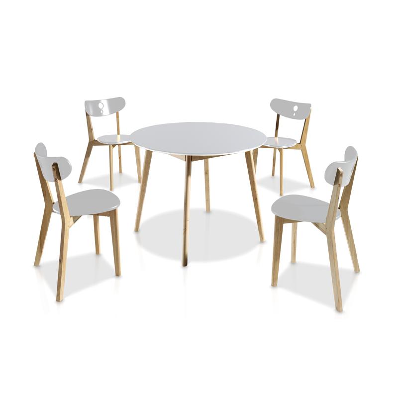 Ensemble Table & Chaises Blanc DAIA