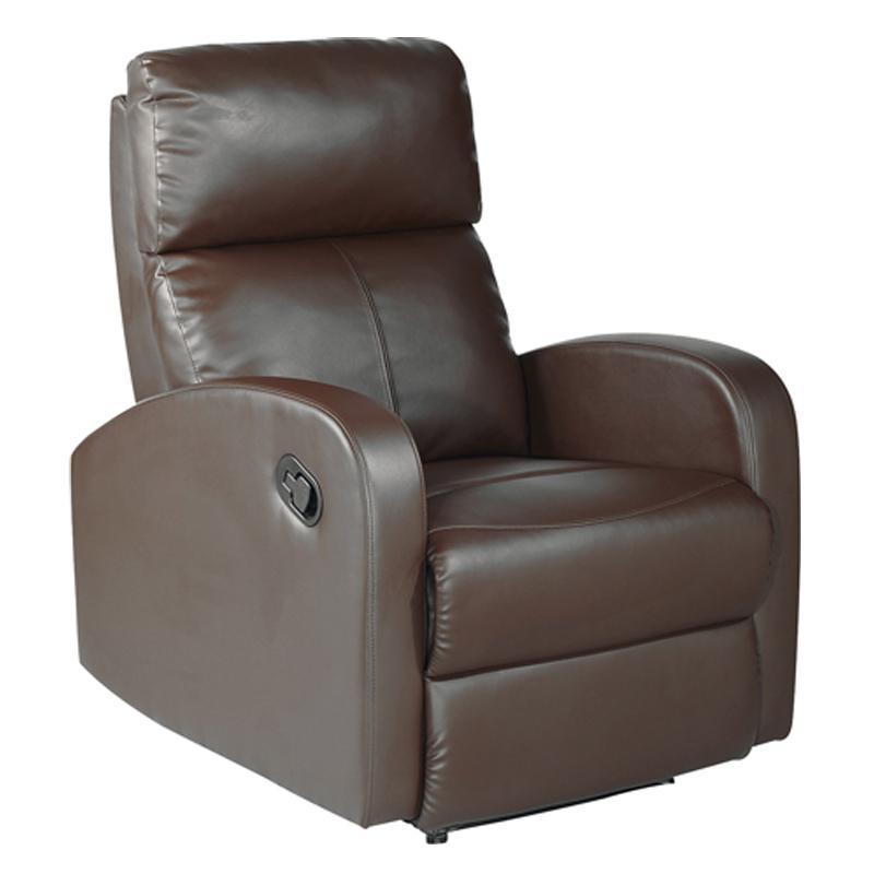 Fauteuil de relaxation Simili cuir Marron PISTOL