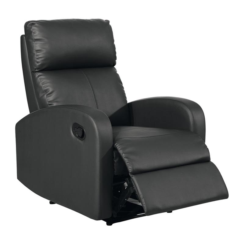 Fauteuil de relaxation Simili cuir Noir PISTOL