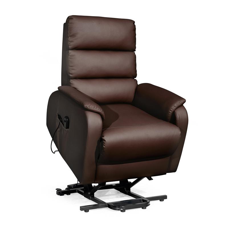 Fauteuil de relaxation Releveur Simili cuir noir VERSO