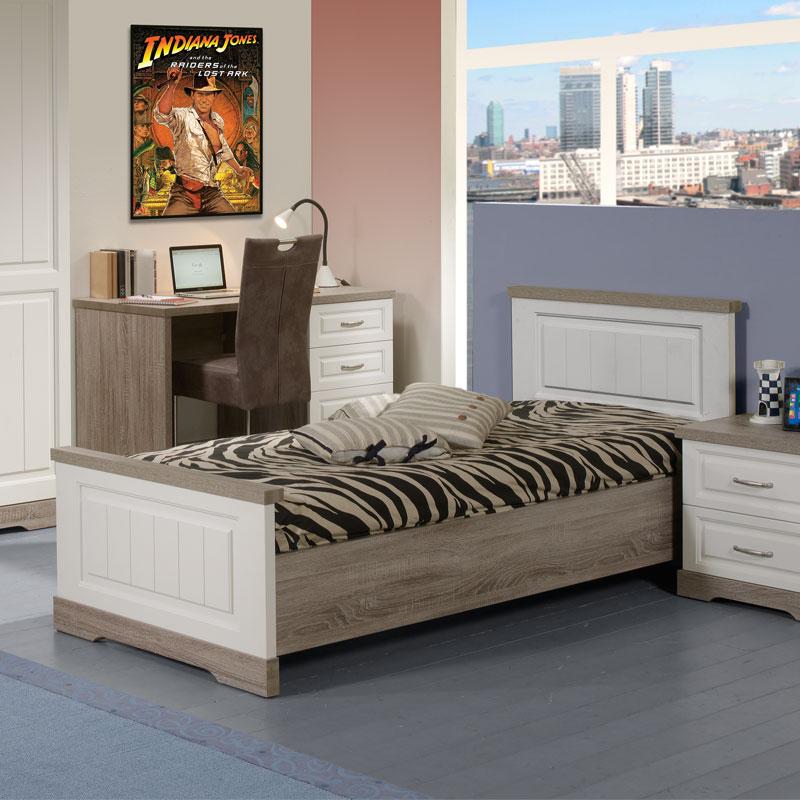 Cadre de lit + Tête de lit 90*190 cm TIVA