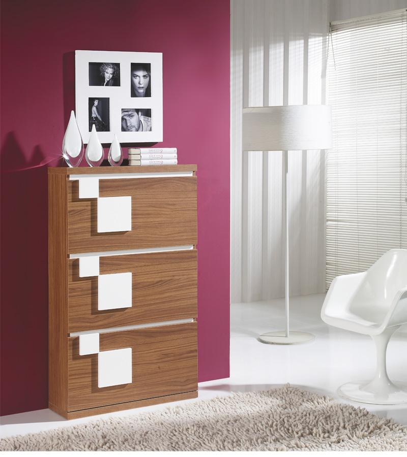 meuble à chaussures Blanc/Noyer - SQUADRA