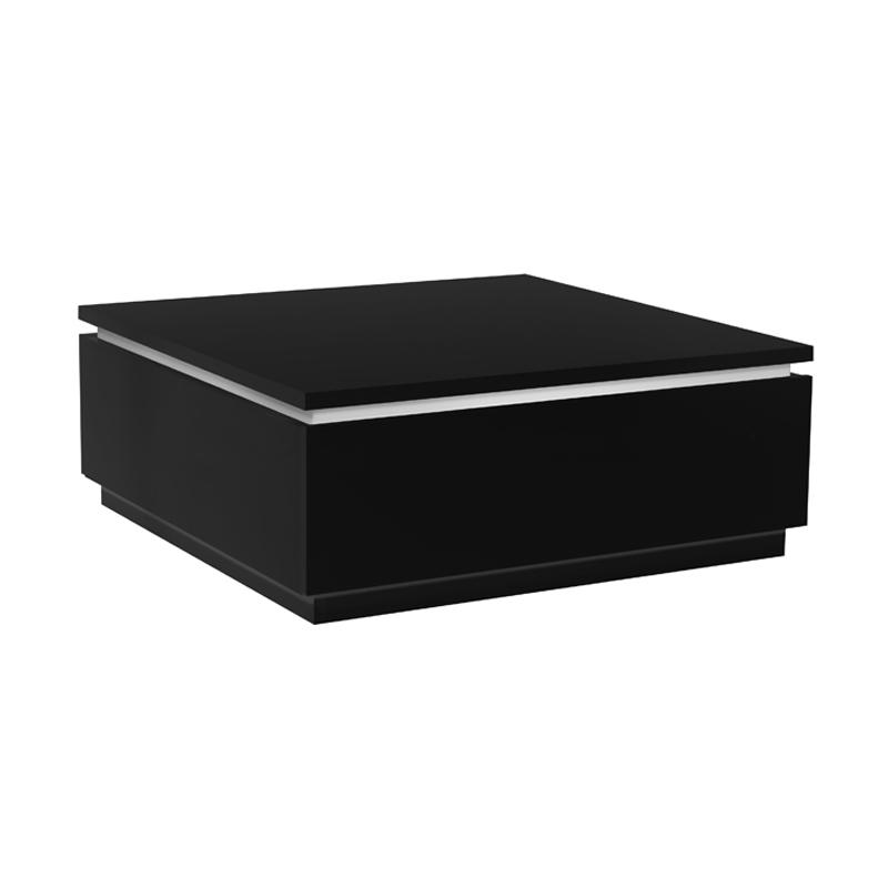 Table basse laque noire CARMEN