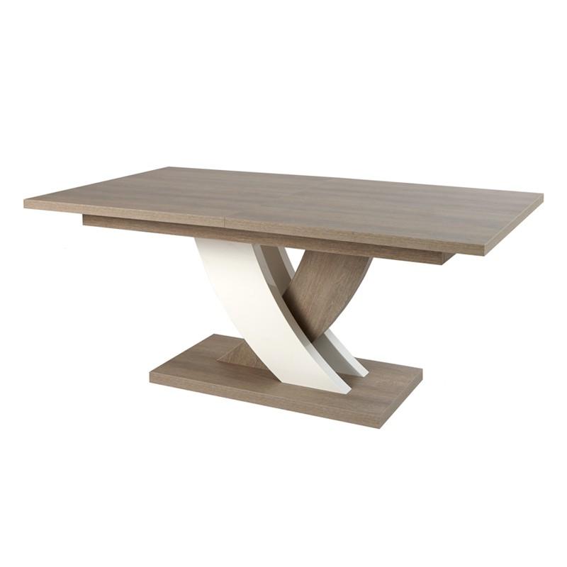 Table de repas rectangulaire à allonges SWIM
